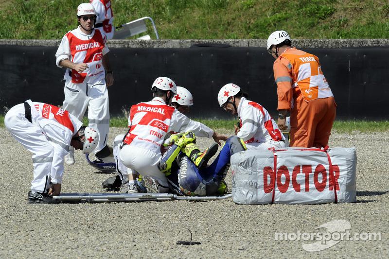 Choque de Valentino Rossi, Fiat Yamaha Team