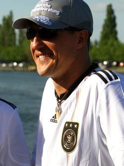 Michael Schumacher, Mercedes GP supporting German football team- Formula 1 World Championship, Rd 8, Canadian Grand Prix, Friday
