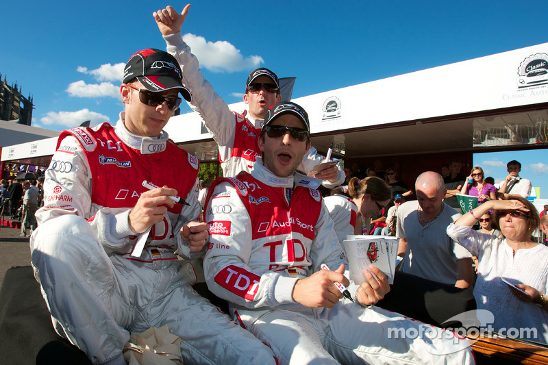 Timo Bernhard, Mike Rockenfeller en Romain Dumas