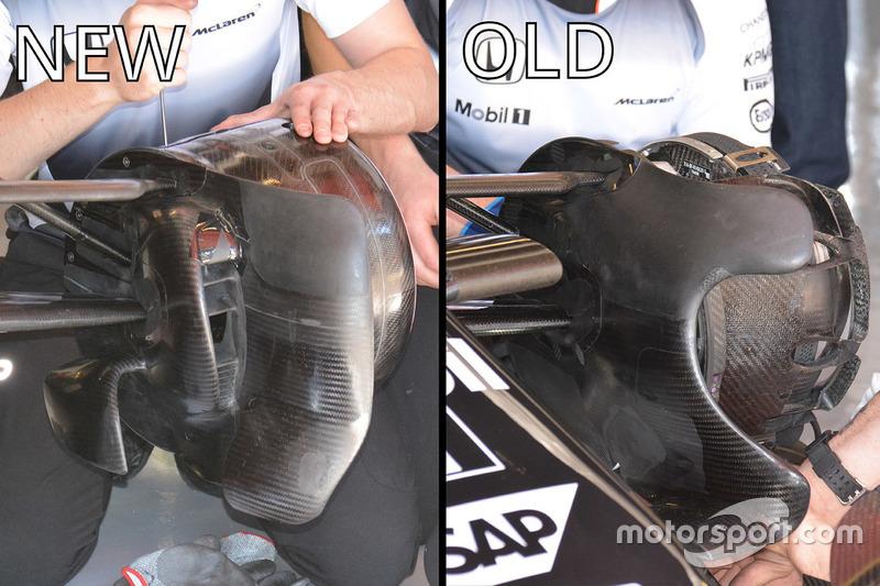 McLaren MP4-31, vergelijking van de brake ducts