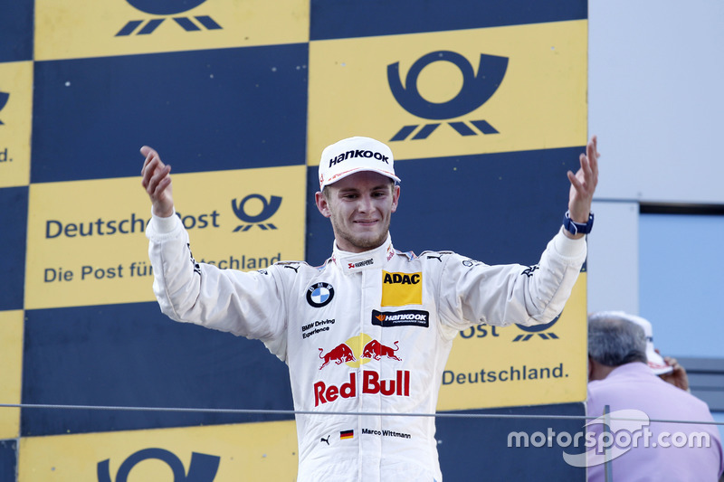 Podio: ganador de la carrera Marco Wittmann, BMW Team RMG, BMW M4 DTM