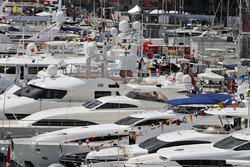 Boats in the scenic Monaco Harbour