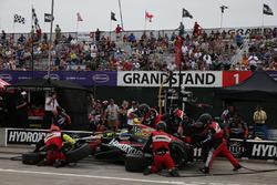 Sébastien Bourdais, KV Racing Technology Chevrolet pit actie