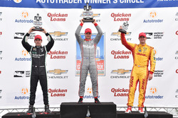 Podium: Sieger Will Power, Team Penske, Chevrolet; 2. Simon Pagenaud, Team Penske, Chevrolet; 3. Ryan Hunter-Reay, Andretti Autosport, Honda