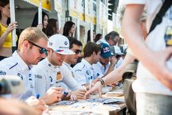 Autogrammstunde, BMW driver, Maxime Martin, BMW Team RBM, BMW M4 DTM; Tom Blomqvist, BMW Team RBM, BMW M4 DTM; Bruno Spengler BMW Team MTEK, BMW M4 DTM