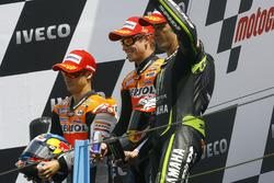 Podyum: 2. Dani Pedrosa; 1. Casey Stoner, Honda; 3. Andrea Dovizioso, Yamaha