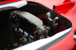 Sebastian Vettel, Ferrari SF16-H steering wheel and cockpit, nicknamed Margherita