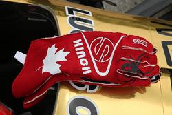 Die Handschuhe von James Hinchcliffe, Schmidt Peterson Motorsports, Honda