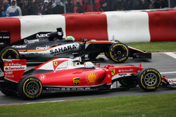 Sebastian Vettel, Ferrari SF16-H and Nico Hulkenberg, Sahara Force India F1 VJM09