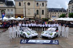 #91 Porsche Motorsport Porsche 911 RSR: Nick Tandy, Patrick Pilet, Kevin Estre, #92 Porsche Motorsport Porsche 911 RSR: Earl Bamber, Frédéric Makowiecki, Jörg Bergmeister