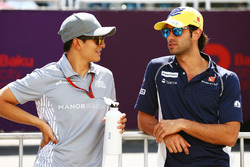 (L to R): Rio Haryanto, Manor Racing and Felipe Nasr, Sauber F1 Team on the drivers parade