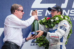 LMGT Pro podium: class winners #68 Ford Chip Ganassi Racing Ford GT: Sébastien Bourdais with Ford Motor Company executive chairman Bill Ford Jr.
