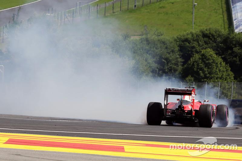 Sebastian Vettel, Ferrari SF16-H, fuori pista