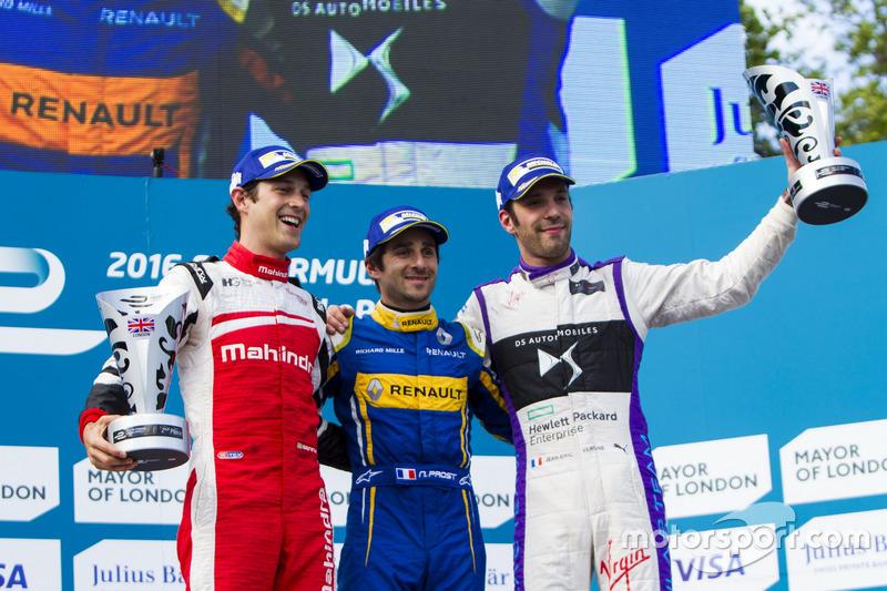 Podio: Ganador de la carrera Nicolas Prost, Renault e.Dams; segundo lugar Bruno Senna, Mahindra Racing; tercer lugar Jean-Eric Vergne, DS Virgin Racing