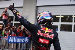 Max Verstappen, Red Bull Racing celebrates his second position in parc ferme