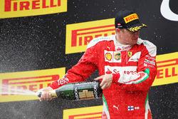 Кімі Райкконен, Ferrari святкує своє третє місце на подіумі