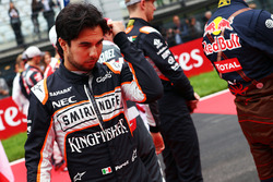 Sergio Perez, Sahara Force India F1 on the grid