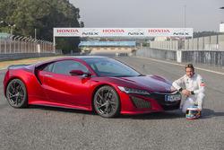 Fernando Alonso und der Honda NSX