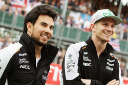 (L to R): Sergio Perez, Sahara Force India F1 with team mate Nico Hulkenberg, Sahara Force India F1