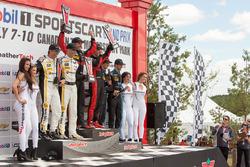 Podium: winners #31 Action Express Racing Corvette DP: Eric Curran, Dane Cameron, second place #5 Action Express Racing Corvette DP: Joao Barbosa, Christian Fittipaldi, third place #10 Wayne Taylor Racing Corvette DP: Ricky Taylor, Jordan Taylor