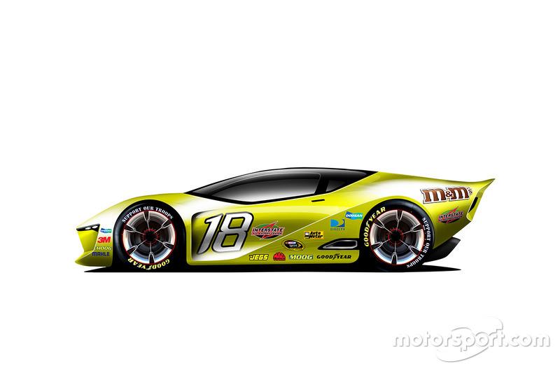 Diseño del futuro Fantasy NASCAR para 2030