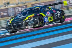 #49 Drivex, Audi R8 LMS Ultra: William Paul, Heino Bo Frederiksen, Zoltan Fekete, Dominik Fekete, Juan Cruz Alvarez