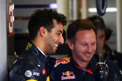 Daniel Ricciardo, Red Bull Racing with Christian Horner, Red Bull Racing Team Principal