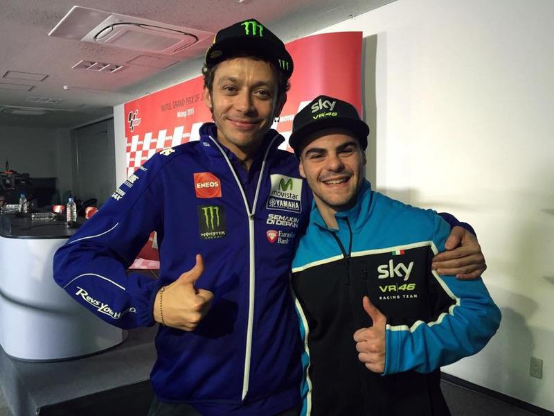 Valentino Rossi y Romano Fenati