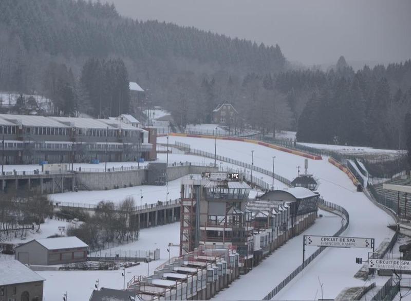 Spa Francorchamps nevado. Foto: @wimporsche