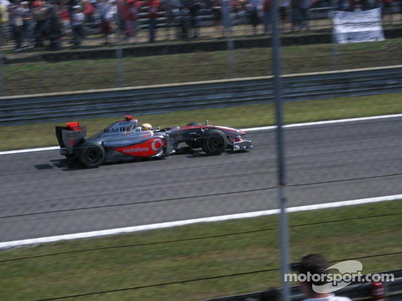 Lewis Hamilton with McLaren-Mercedes
