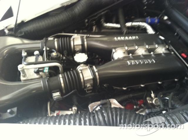 Ferrari 458 Italia engine bay