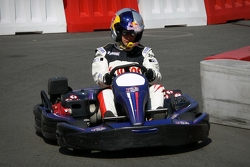 Drivers of sports Michał Kościuszko in kart