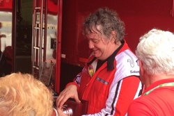 Jim Weiland admires his trophy