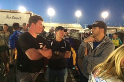 Anthony Giannone gets post race praise from his spotter Matt Crafton