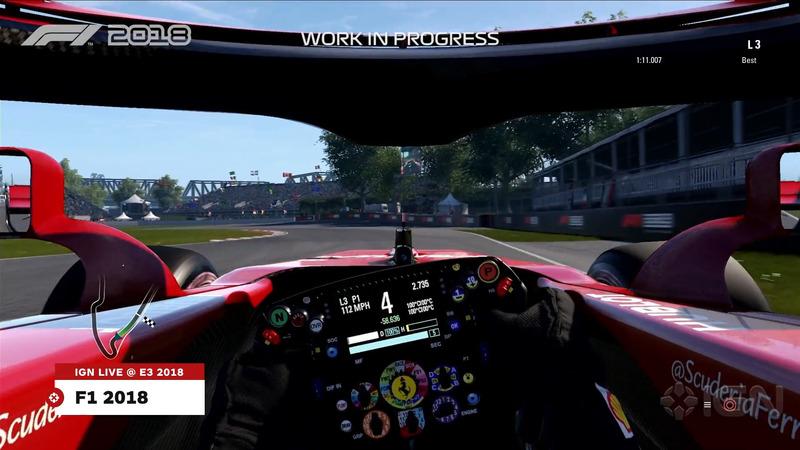 Вид из кокпита со скрытой частью Halo в F1 2018
