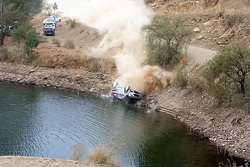 Ott Tanak goes off at Rally Mexico