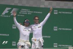 """Alonso e Button no """"pódio"""" em Interlagos"""
