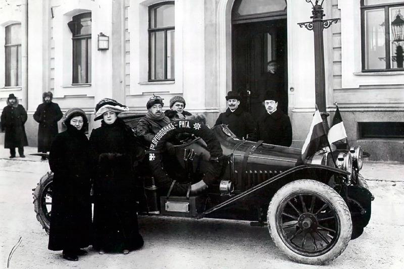 1912 год. Андрей Нагель / Вадим Михайлов – старт в Санкт-Петербурге