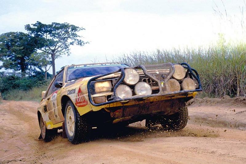 Audi Quattro Мишель Мутон после подмены на Ралли Кот-д'Ивуар 1985 года