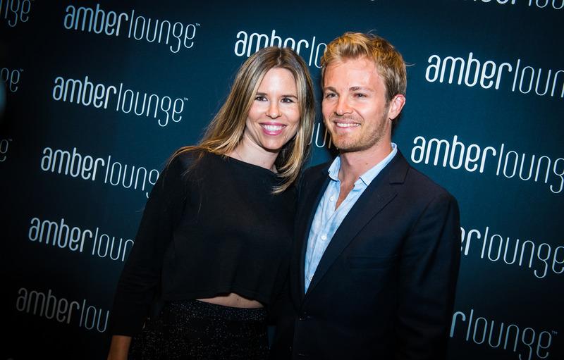 Rosberg y su mujer en la Amber Lounge de Mónaco