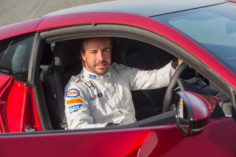 Alonso y el Honda NSX