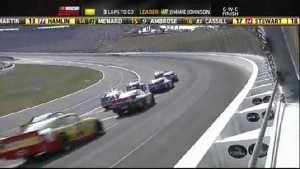 Johnson Leads Restart and Takes It - Kansas Speedway 2011