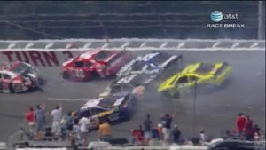 Crash With 46 Laps Left - Aaron's 499 - Talladega 2012