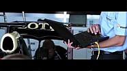 Harold Primat Lotus F1 car run