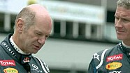 Adrian Newey Drives An RB6 And Leyton House March At Silverstone