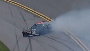 Kyle Larson blows a tire at Talladega!
