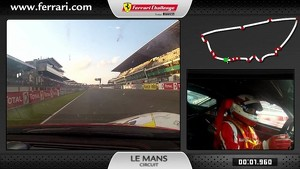 On-board of the Ferrari 458 Challenge: Philipp Baron at Le Mans