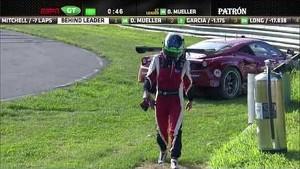 2013 Lime Rock - Risi Ferrari Crash - ALMS - Tequila Patron - ESPN - Racing - Sports Cars