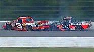 NASCAR Ty Dillon and Johnny Sauter Hit the Wall | Pocono (2013)
