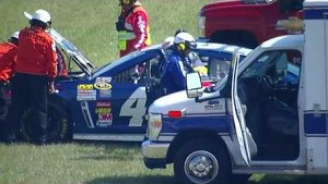 Jimmie Johnson crashes during practice | Michigan (2013)